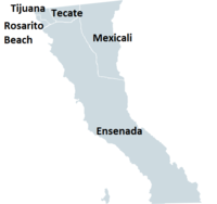 Map of the Municipalities of Baja California