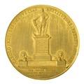 Baksida av medalj med bild av staty föreställande Karl XIII - Skoklosters slott - 99265.tif