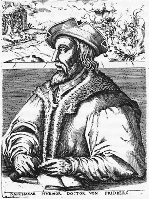 Balthasar Hubmaier was the foremost theologian of the Swiss Brethren. Balthasar Hubmaier.png