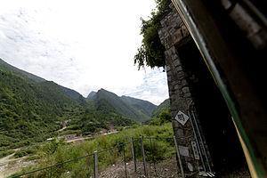 Baoji–Chengdu Railway - Baocheng Railway near the Jialing River.