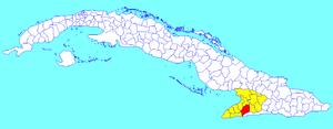 Bartolomé Masó, Cuba - Image: Bartolomé Masó (Cuban municipal map)