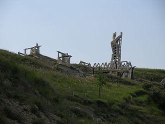 Battle of Noáin - Present day monument on the battlefield.