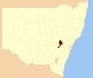Bathurst Region - Location in New South Wales