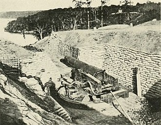 Battle of Drewry's Bluff - Confederate gun at Battery Dantzler, Drewry's Bluff.
