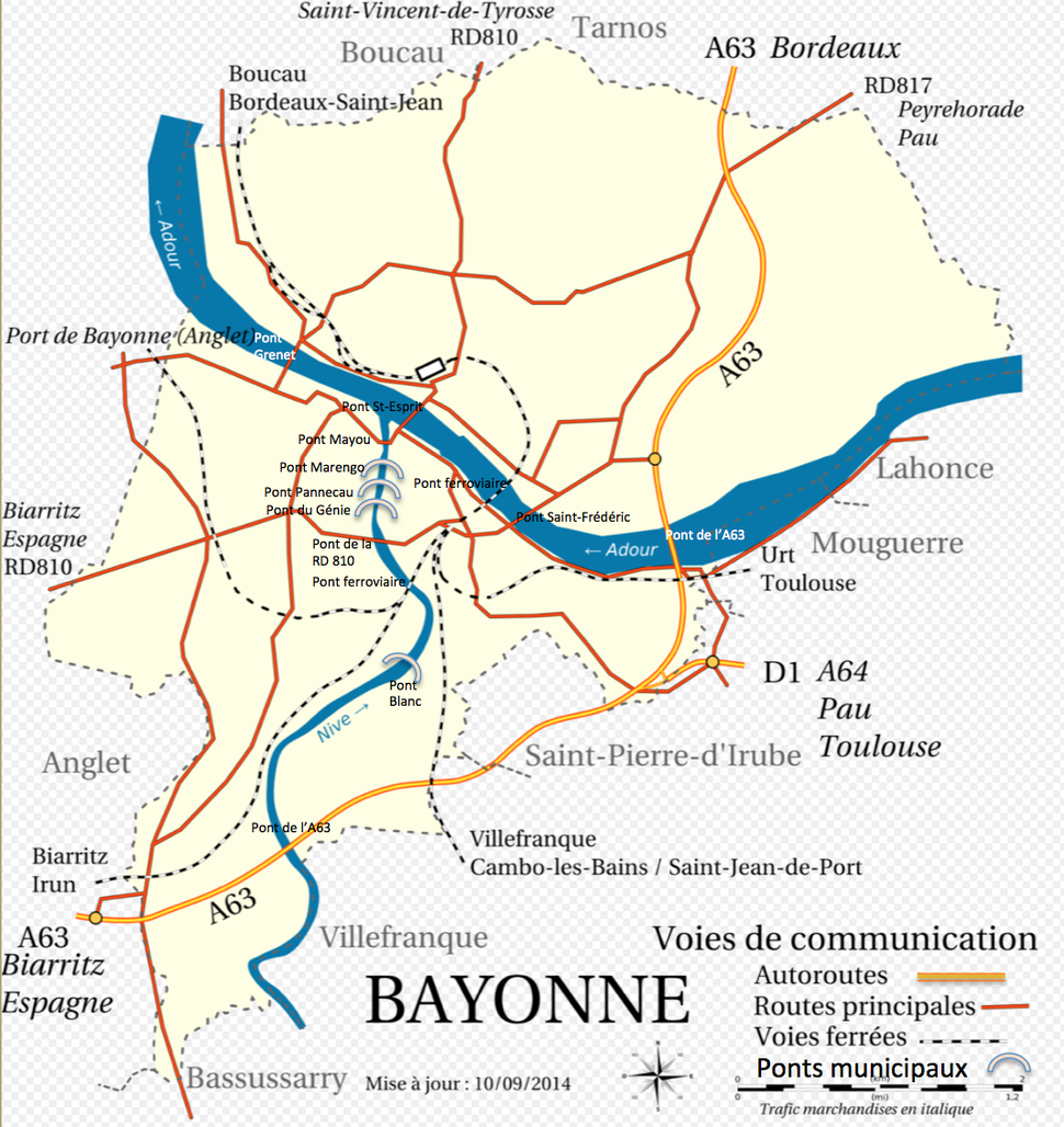 Bayonne - Voies de communication (2)