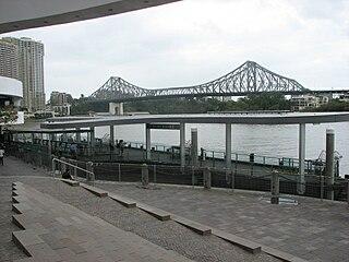 Riverside ferry wharf