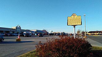 Beacon Field Airport - A historic marker denotes the site of Beacon Field Airport, today the Beacon Hill Mall