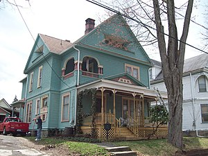 National Register of Historic Places listings in Cattaraugus County, New York - Image: Beardsley Oliver House Apr 10