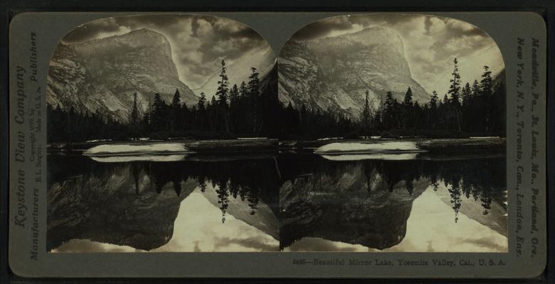 Beautiful Mirror Lake, Yosemite Valley, Cal. U.S.A, by Singley, B. L. (Benjamin Lloyd).png