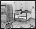 Bedroom in home of Mack Gibson, miner, who lives in company housing project. Consolidated Coal Company, Bankhead... - NARA - 540625.tif