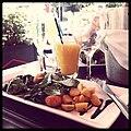 Beet salad and orange juice.jpg