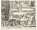 Begrafenis van Johann Baptista von Tassis te Keulen, 1588 Pompe Funebre du Tres Illustre Chef Messire Iean-Baptiste de Tassis, tué au Siege de la Ville de Bonne, en l'an MDLXXXVIII (titel op object), RP-P-OB-11.690.jpg