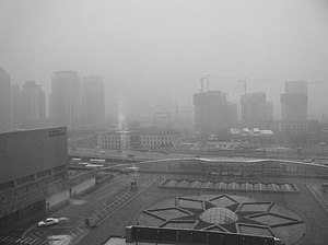 Road pricing - High air pollution day in Beijing