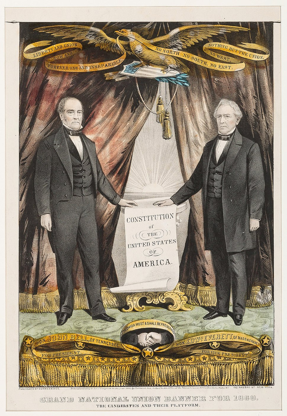 Bell Everett Campaign Poster 1860