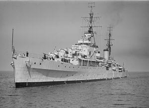 HMS Bellona (63) - Bellona in 1947