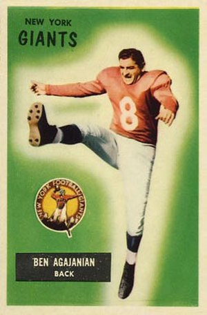 Ben Agajanian - 1955 Bowman football card