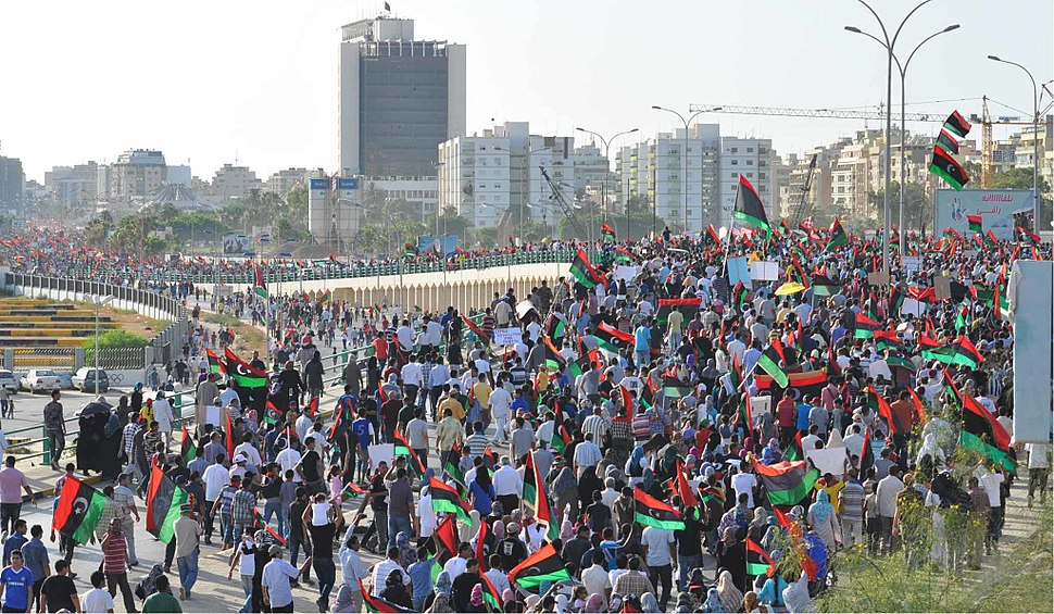 Benghazi Anti-Qaddafi protest