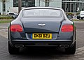 Bentley Continental GT V8 (II) – Heckansicht (5), 5. April 2012, Düsseldorf.jpg
