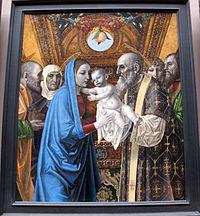 Bergognone, presentazione al tempio e santi, 1494 ca. 04.JPG