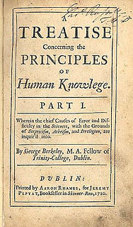 <i>A Treatise Concerning the Principles of Human Knowledge</i> 1710 philosophical work by George Berkeley