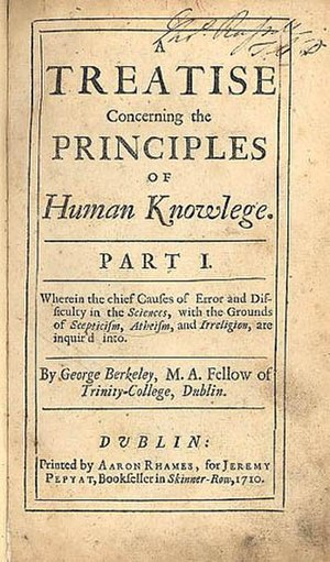 A Treatise Concerning the Principles of Human Knowledge - Treatise Concerning the Principles of Human Knowledge
