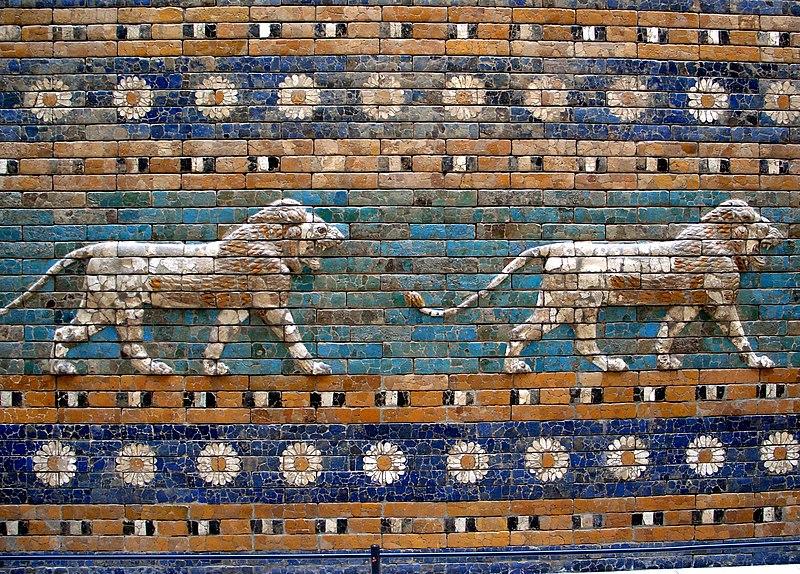 File:Berlín - Pergamon - Porta d'Ishtar - Lleons.JPG