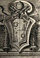 Bernini's coat of arms of Alexander VII in the Tomb of Alexander VII in St. Peter's Basilica by Filippo Juvarra (1711).jpg