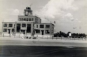 Nashville International Airport - Eastward view of Berry Field's original administration building.