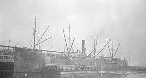 Caroline Brady (philologist) - S.S. Bessie Dollar at dock in Vancouver in 1920