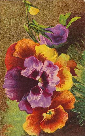 Greeting Card, ca 1900.