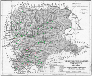 Beszterce-Naszód County - Ethnic map of the county with data of the 1910 census (see the key in the description)