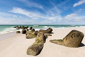 Hörnum - Tetrapods on the beach
