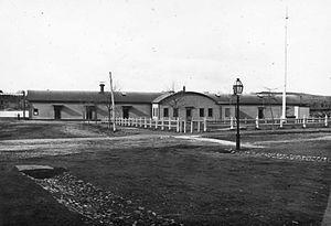 Beverly Depot (MBTA station) - The 1855-built depot around 1890