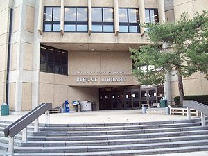 University of Akron - Bierce Library, the main campus library.