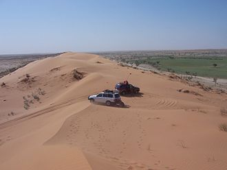 Munga-Thirri National Park - 'Big Red' is the largest sand dune in the national park, 2007.