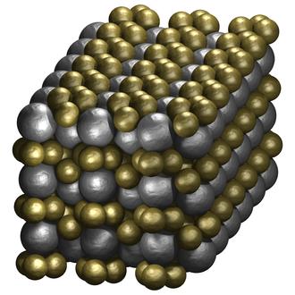 Sphere packing - Image: Binary sphere packing LS3