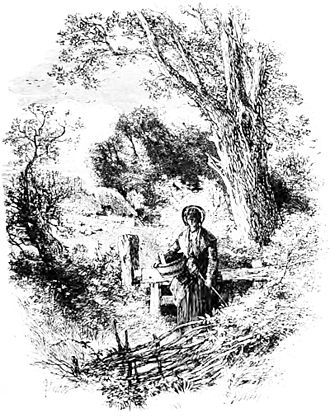 "Poor Susan - Myles Birket Foster's illustration of ""Poor Susan"" from Beauties of English Landscape (1874), engraved by the brothers Dalziel"