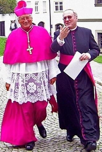 Roman Catholic Diocese of Augsburg - Image: Bishopand Vicar General Augsburg