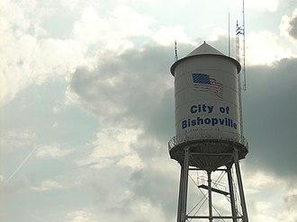 Bishopville, South Carolina - The water tower in Bishopville