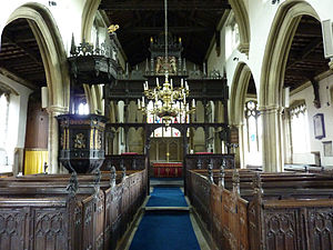 Croscombe - Interior of St Mary's Church