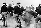 Police attacking civil rights activists outside Selma, Alabama