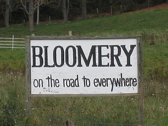 """Bloomery, Hampshire County, West Virginia - The """"Bloomery Sign"""""""