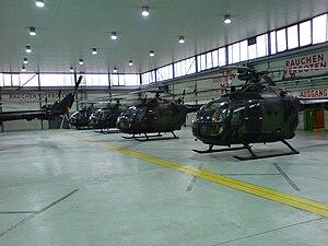 Fritzlar Air Base - MBB Bo 105 within Hangar 6