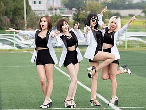 Bob Girls - Bob Girls in September 2014  Left to right: Jina, Danbi, Yujeong, Dahye