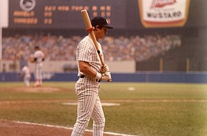 Bobby Murcer - Murcer on deck at Yankee Stadium, 1979.