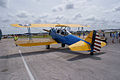 Boeing Stearman N2S-3 Kaydet N2158P Enclosed Cockpit LSideRear SNF 04April2014 (14399690520).jpg