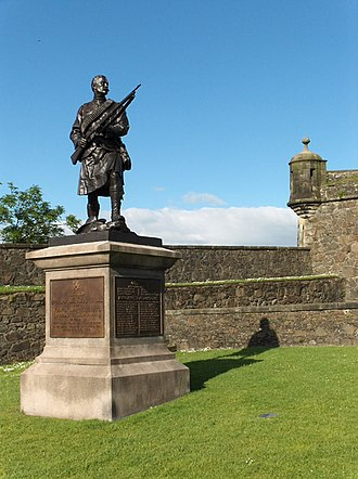Argyll and Sutherland Highlanders - The Argyll and Sutherland Boer War Memorial at Stirling Castle.