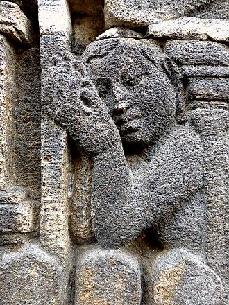 Sembah - Sembah gesture depicted in Borobudur bas-relief