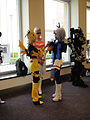 BotCon 2011 - Transformers cosplay - Adjusting Soundwave's Deck (5802061053).jpg