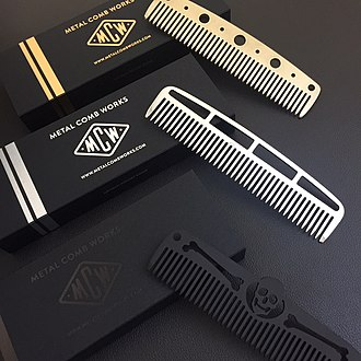 Comb - Modern brass, steel and titanium combs
